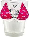 Outer Banks North Carolina OBX Pink Bikini Double Sided Shot Glass