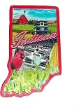 Indiana State Outline Foil Fridge Magnet