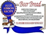 Beer Bread Blue Ribbon Recipe Fridge Magnet