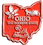 Ohio The Buckeye State Map Fridge Magnet