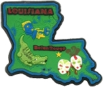 Louisiana Multi Color Fridge Magnet