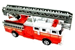 Red Fire Engine Ladder Truck Die Cast Metal Collectible Pencil Sharpener