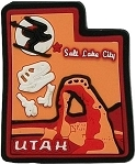 Utah Multi Color Fridge Magnet