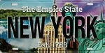 New York The Empire State License Plate Souvenir Fridge Magnet