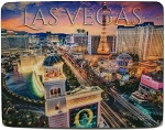 Las Vegas Strip above Bellagio Sign 3D Fridge Magnet