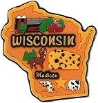 Wisconsin Madison Multi Color Fridge Magnet