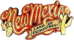 New Mexico Land of Enchantment Script Magnet