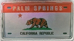 Palm Spring California Foil Panoramic Dual Sided Fridge Magnet