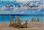 Ocean City Maryland-Beach Scene Fridge Magnet