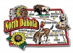 North Dakota Jumbo Map Fridge Magnet