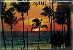 Maui Hawaii Sunset Fridge Magnet