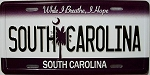 South Carolina State License Plate Novelty Fridge Magnet