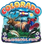Colorado The Centennial State Artwood Montage Fridge Magnet