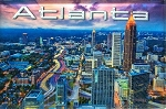 Atlanta Georgia Skyline Glass Fridge Magnet