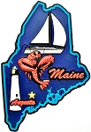 Maine Multi Color Fridge Magnet