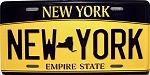 New York State License Plate Novelty Fridge Magnet