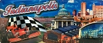 Indianapolis Indiana Foil Panoramic Fridge Magnet