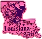 Louisiana Baton Rouge Fridge Magnet