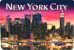 New York City Hudson River Reflection 3D Fridge Magnet