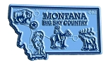 Montana Big Sky Country State Map Fridge Magnet
