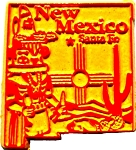 New Mexico Santa Fe Fridge Magnet