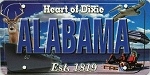 Alabama Heart of Dixie License Plate Souvenir Fridge Magnet