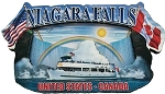 Niagara Falls Montage Artwood Fridge Magnet