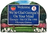 Georgia State Welcome Sign Artwood Magnet