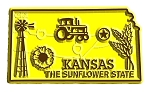 Kansas the Sunflower State Map Fridge Magnet