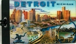 Detroit Michigan Montage 3D Luggage Bag Tag