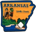 Arkansas Little Rock Fridge Magnet