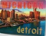Detroit Michigan 3D Postcard