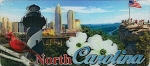 North Carolina 3D Fridge Magnet