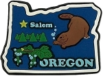 Oregon Multi Color Fridge Magnet