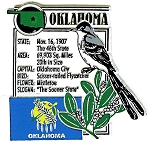 Oklahoma The Sooner State Montage Fridge Magnet