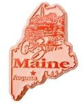 Maine Augusta United States Fridge Magnet