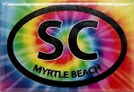 Myrtle Beach South Carolina Tie Dye Fridge Magnet