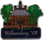 Williamsburg Virginia Foil Design Fridge Magnet