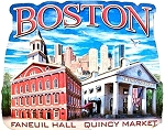 Boston Massachusetts Montage Artwood Fridge Magnet