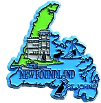 Newfoundland St Johns-4 Color Canadian Province Fridge Magnet