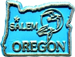 Oregon Salem United States Fridge Magnet