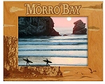 Morro Bay California Laser Engraved Wood Picture Frame (5 x 7)