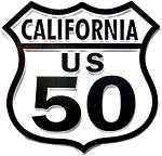 Route 50 California Road Sign Fridge Magnet