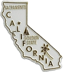California The Golden State Fridge Magnet
