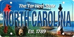 North Carolina The Tar Heel State License Plate Souvenir Fridge Magnet