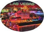 Las Vegas Aerial View looking North Double Sided Oval 3D Key Chain