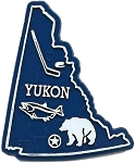 Yukon Map Fridge Magnet