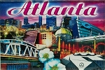 Atlanta Montage Glass Fridge Magnet