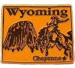 Wyoming Cheyenne United States Fridge Magnet