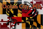 Ocean City Maryland Flag Design Fridge Magnet